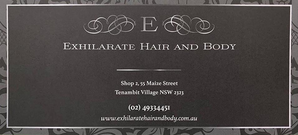 Exhilarate Hair Gift Voucher